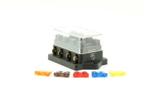 Lumision 4 Port way Automotive ATO ATC APR Fuse Block Terminal with 5 Fuses Set