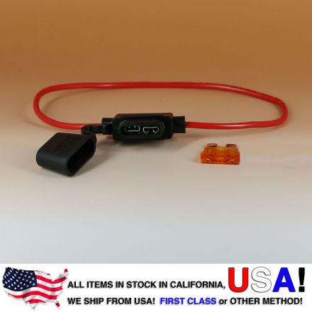 16 AWG ATO/ATC Fuse Holder Car / Boat + 5A Fuse
