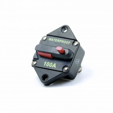 Lumision Waterproof DC Circuit Breaker Panel Mount Resettable 12-48VDC 100A