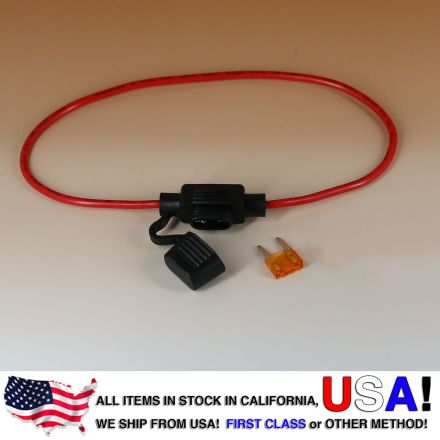 16 AWG Mini Blade Style APM ATM Fuse Holder Car / Boat + 5A Fuse