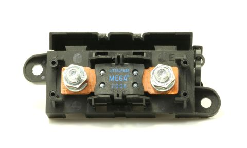 LITTLEFUSE Expandable Mega Fuse HOLDER with 200A megafuse 200 amp 32V DC Slo-Blo