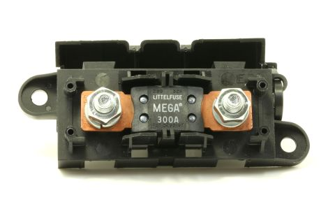 LITTLEFUSE Expandable Mega Fuse HOLDER with 300A megafuse 300 amp 32V DC Slo-Blo