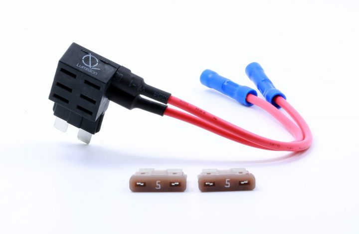 lumision dual fuse tap regular ato atc apr with 5 amp fuses automotive boat  rv 2